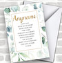 Leaves Gold Poem Personalized Valentine's Day Card