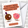 Funny Donut Pun Personalized Valentine's Day Card