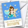 Mermaid For You Personalized Valentine's Day Card