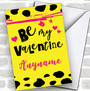 Neon Punk Style Personalized Valentine's Day Card