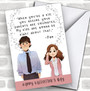 USA Office Pam Personalized Valentine's Day Card