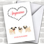 Pugs & Kisses Personalized Valentine's Day Card