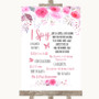 Pink Watercolour Floral I Spy Disposable Camera Personalized Wedding Sign