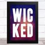 Wicked Purple Watercolor Statement Wall Art Print
