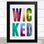 Wicked Watercolors Statement Wall Art Print