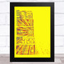 Michael Jackson Boom Box Lyrics Yellow Music Fan Song Lyric Wall Art Print