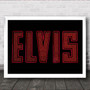 Elvis Neon Sign Music Fan Song Lyric Wall Art Print