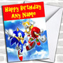 Sonic The Hedgehog  Personalized Birthday Card
