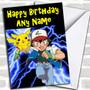 Pokemon Personalized Birthday Card