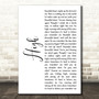 James Blunt High White Script Song Lyric Art Print