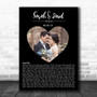 Heart Wedding Photo Black Names Date Bottom Script Any Song Lyric Wall Art Print