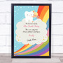 Blonde Girl Rainbow Tooth Fairy Personalized Certificate Award Print