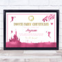 Tooth Fairy Excellent Care Pink Personalized Certificate Award Print