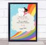 Dark Skin Girl Tooth Fairy Personalized Certificate Award Print