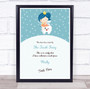 Tooth Fairy Teal And White Personalized Certificate Award Print