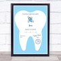 Blue Tooth Fairy Receipt Personalized Certificate Award Print