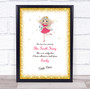 Tooth Fairy Gold Border Personalized Certificate Award Print