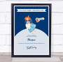 Blue Ginger Tooth Fairy Personalized Certificate Award Print