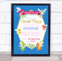 Magical Tooth Fairy Personalized Certificate Award Print