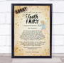 Vintage Style Tooth Fairy Sorry Letter Certificate Award Print