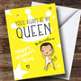 Personalized Queen Cute Cartoon Mothers Day Card