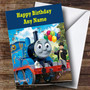 Personalized Blue Thomas The Tank Engine Children's Birthday Card