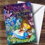 Personalized Disney Alice In Wonderland Children's Birthday Card