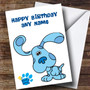 Personalized Blues Clues Blue The Dog Children's Birthday Card