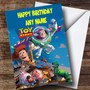 Personalized Toy Story Characters Children's Birthday Card