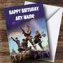 Personalized Fortnite Game Children's Birthday Card