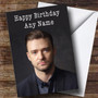 Personalized Justin Timberlake Celebrity Birthday Card