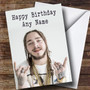 Personalized Post Malone Celebrity Birthday Card