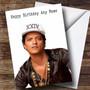Personalized Bruno Mars Celebrity Birthday Card
