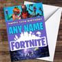 Game Fortnite Personalized Children's Birthday Card