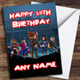 Blue Roblox Personalized Birthday Card