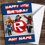 Roblox Logo Personalized Birthday Card