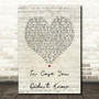 Brett Young In Case You Didn't Know Script Heart Song Lyric Print