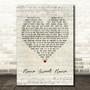 Motley Crue Home Sweet Home Script Heart Song Lyric Music Print
