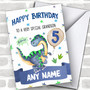 Personalized Boys Birthday Card Dinosaur 1St 2Nd 3Rd 4Th 5Th 6Th Grandson