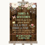 Rustic Floral Wood Pick A Prop Personalized Wedding Sign