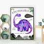 Apatosaurus Dinosaur Facts Children's Nursery Kids Wall Art Print