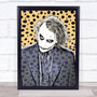 Heath Ledger Joker Batman Animal Print Funky Framed Wall Art Print