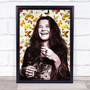 Janis Joplin Butterflies Funky Framed Wall Art Print