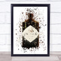 Watercolour Splatter Dark Scottish Gin Bottle Wall Art Print