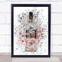 Watercolor Splatter Russian Black Vodka Bottle Decorative Wall Art Print