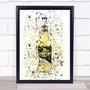 Watercolor Splatter Press Cider Bottle Decorative Wall Art Print