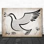 Any Song Custom Vintage Dove Bird Personalized Lyrics Print