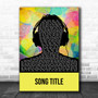 Any Song Custom MultiColor Man Headphones Personalized Lyrics Print
