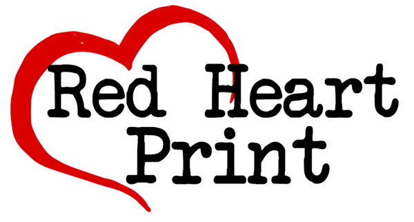 Red Heart Print