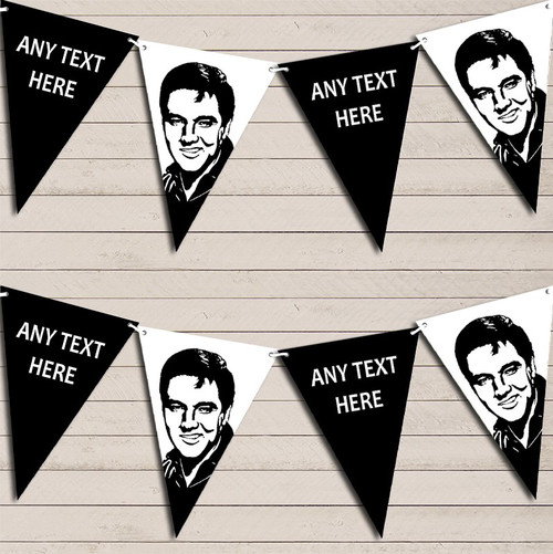 Name and Any Age BD43 Personalised Elvis Presley Birthday Banner